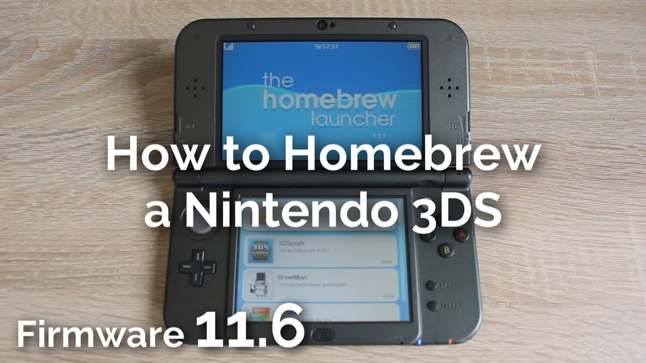 How To Homebrew A Nintendo 3ds 11 6 Youtube