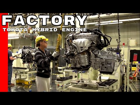 Toyota Hybrid Engine Production Factory