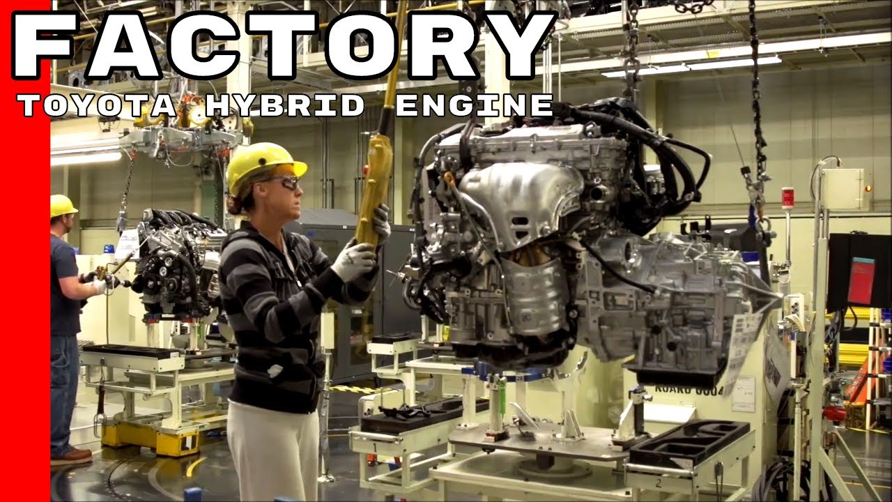 Toyota Hybrid Engine Production Factory