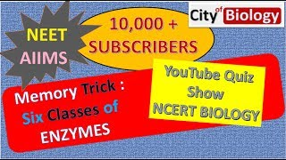 ENZYME CLASSIFICATION MEMORY TRICK FOR NEET/AIIMS/PMT-2018