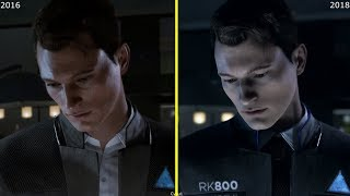 Detroit Become Human E3 2016 vs 2018 Demo PS4 Pro Graphics Comparison