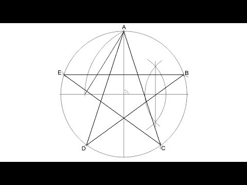How To Draw A Five Pointed Star Inscribed In A Circle