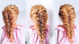 ПРОСТАЯ и БЫСТРАЯ прическа на ДЛИННЫЕ волосы. Как сделать текстуру? Easy Hairstyle for Long Hair