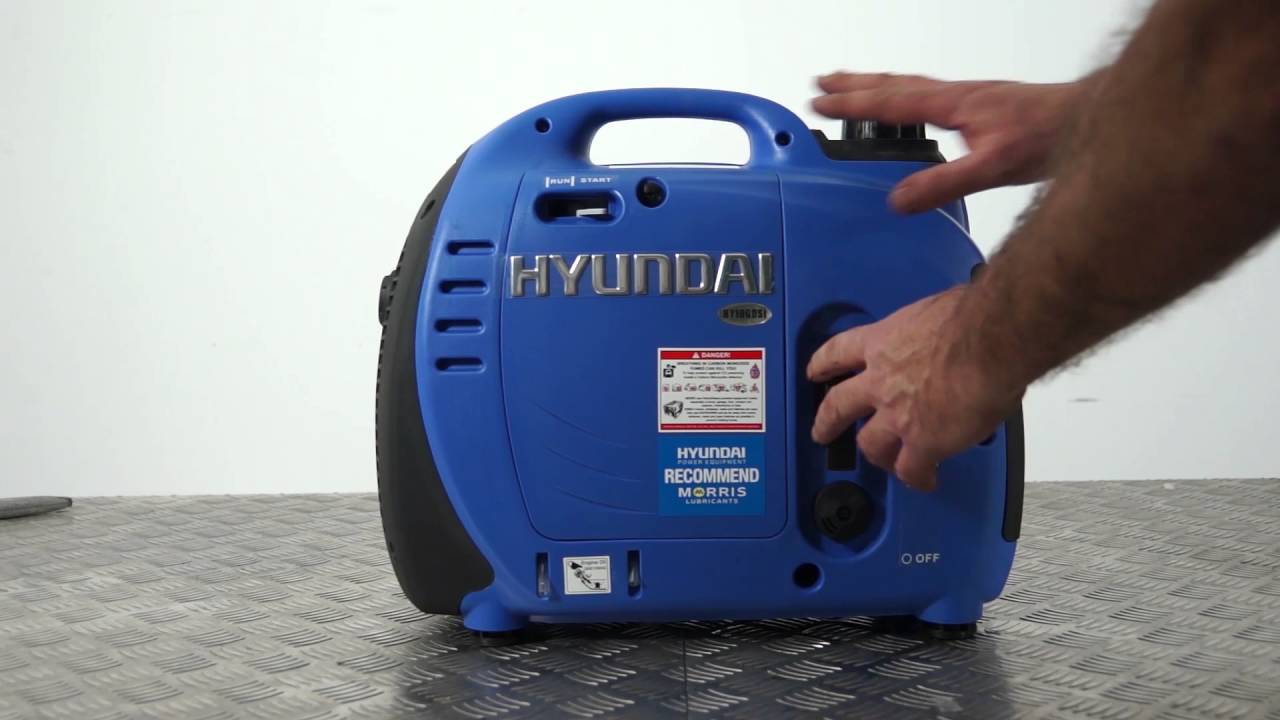 Hyundai 1000w Portable Petrol Inverter Generator Hy1000si Unboxing Assembly Guide Youtube