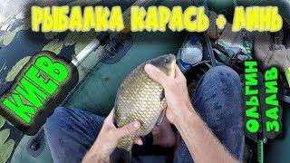 Рыбалка Карась + Линь.  Киев.  Ольгин залив