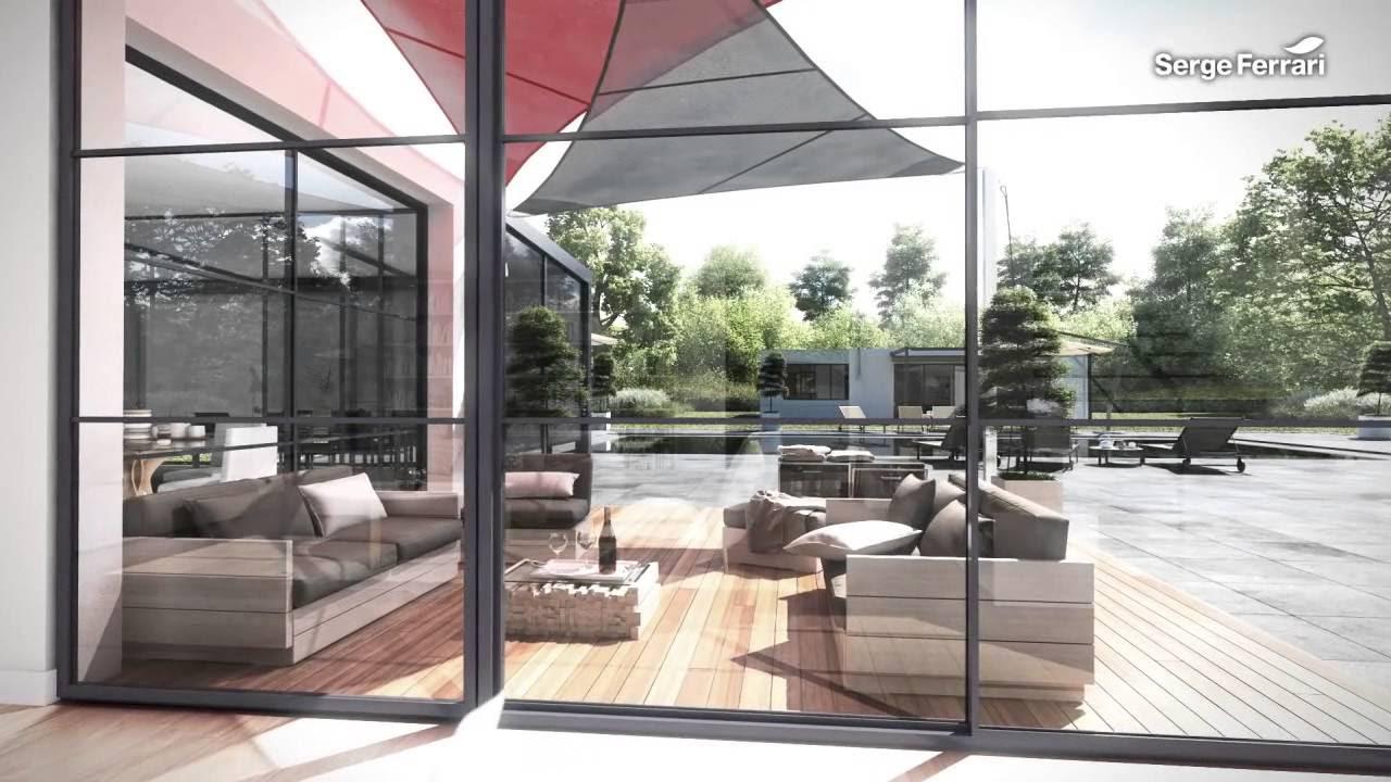 Tortora tessuto tecnico dove grey technical fabric -  Serge Ferrari Materials For Private Housing Solutions