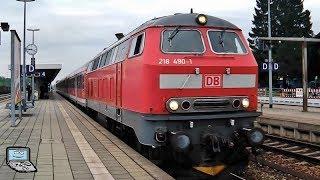 Buchloe mit BR 218 +n-Wagen +Karlsruher Kopf, DoSto im BR 245 Sandwich, VT 612, 642