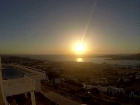 Sunset Timelapse - Panorama Sun Villas Paros, Greece