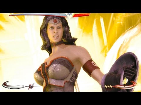 Injustice: Gods Among Us - Wonder Woman Super Move on all Characters 4K 60FPS gameplay All Costumes