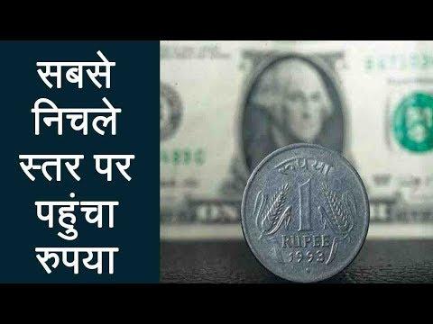Indian Rupee crashes to lifetime low of 69 against Dollar | वनइंडिया हिंदी