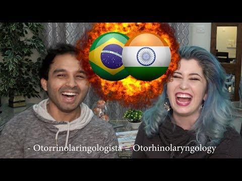 INDIA VS BRASIL - indiano falando portugues / Brazilian speaking hindi