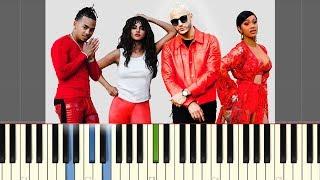 DJ Snake - Taki Taki (ft. Selena Gomez, Ozuna, Cardi B)   Piano Tutorial