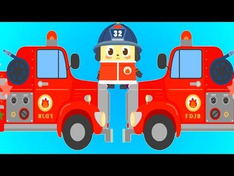 Мультик игра - ПОЖАРНЫЕ МАШИНЫ все серии подряд 1 ЧАС. Добрый пожарные спасают животных от пожара
