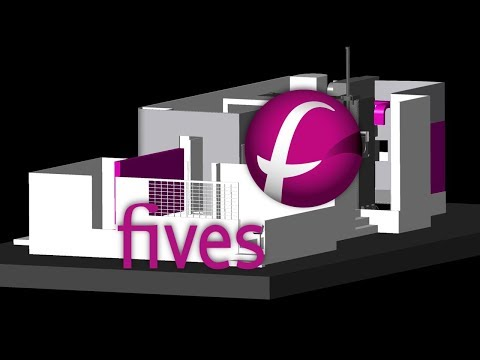 FIVES FOREST LINE AEROSTAR Machine Tool CNC Simulation With NCSIMUL