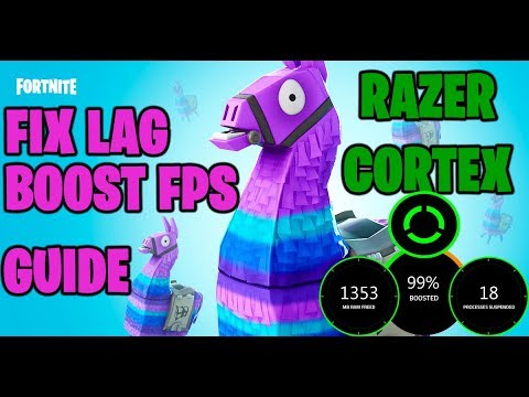BOOST FPS In Fortnite Using Razer Cortex - (Fix Lag In Fortnite Season 7)