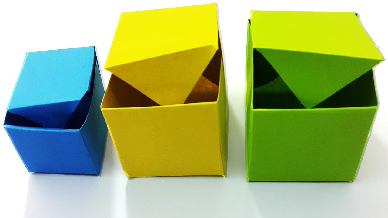 Simple Origami Box Making Tutorial For Beginners Diy
