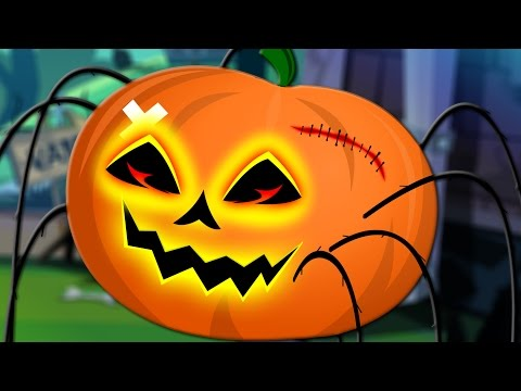 scary incy wincy spider | halloween song | nursery rhymes | kids songs | scary pumpkin