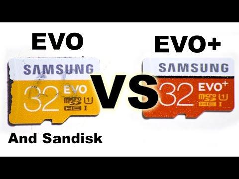 Samsung EVO vs EVO+ SD card comparison