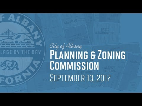 Planning & Zoning Commission - September 13, 2017