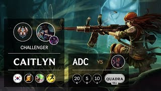 Caitlyn ADC vs Lucian - KR Challenger Patch 9.9