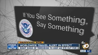 Worldwide travel alert in effect this holiday season