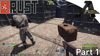 Rust Multiplayer Gameplay - Part 1 - First Base