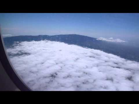 Flight From Maui to BIg Island Coast Outline and Mountain
