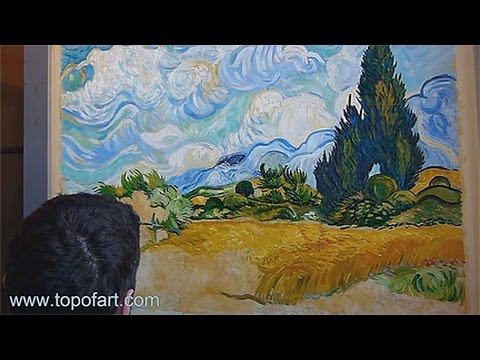 Art Reproduction (van Gogh - Wheat Field with Cypresses) Hand ...