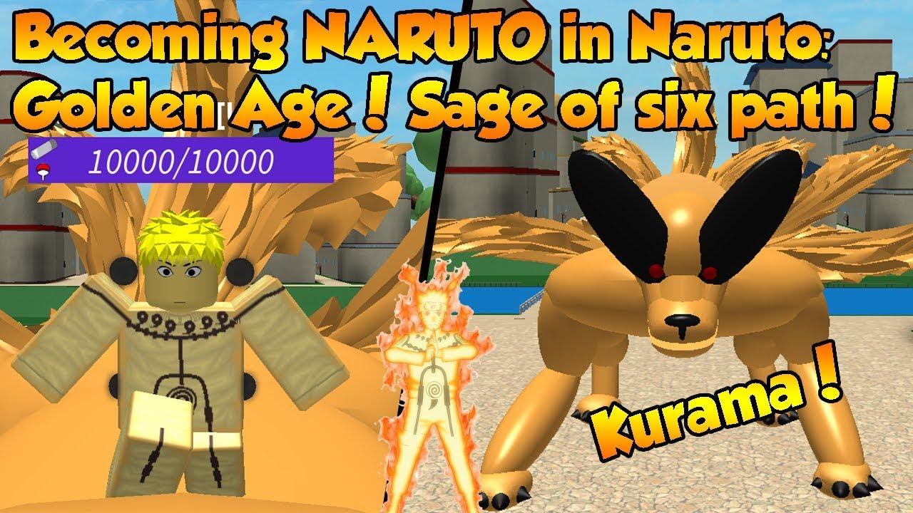 Roblox Naruto Model Becoming Naruto In Naruto Golden Age Sage Of Six Path Kurama Roblox Youtube