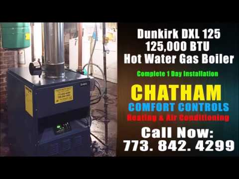 Dunkirk DXL 125,000 BTU Hot Water Boiler Installation - YouTube