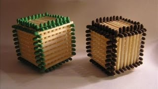 Jak zrobić kostkę z zapałek, Matchsticks Cube, Zrób to sam, DiY