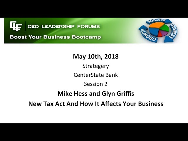 2018 05 10 CEO Leadership Session 02 Hess & Griffis