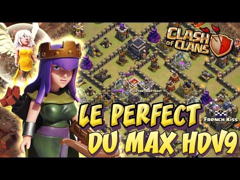 Perfect de village anti 3 étoiles HDV 9 par French Kiss | Clash Of Clans Français