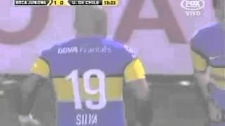 Boca Jrs 1 - U de Chile 0 - Gol de Santiago Silva [Ida]