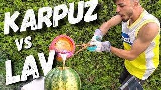 KARPUZUN İÇİNE LAV DÖKMEK!! (EFSANE DENEY)