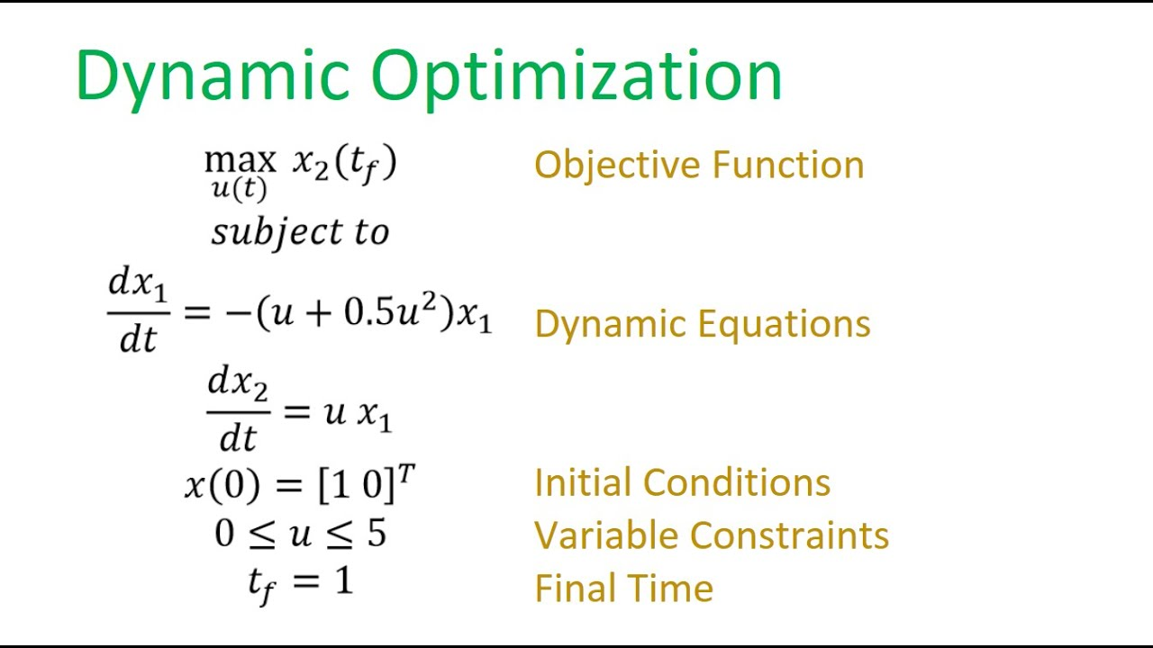 Optimal Control Problems | Dynamic Optimization