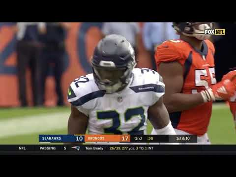 Cris Carson #32 | 2018 Week 1 HD Highlights | Nasty Hurdle and an insane truck on Bradley Chubb