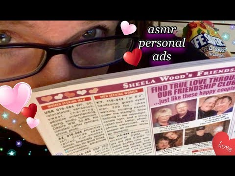 Quiet ASMR whisper 🎧  Personal Ads from The Globe Tabloid Magazine