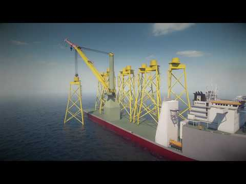 Animation Bokalift 1 (F3000) Crane Vessel Renewables