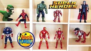 Супергерои -  Игрушки. МНОГО НОВЫХ КОРОБОК. Моя БОЛЬШАЯ Коллекция. Ник Турбо