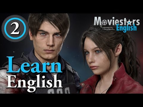 Learn English with Video Games - Learn English with Resident Evil 2 (2019) - Part 2 (Leon Story)