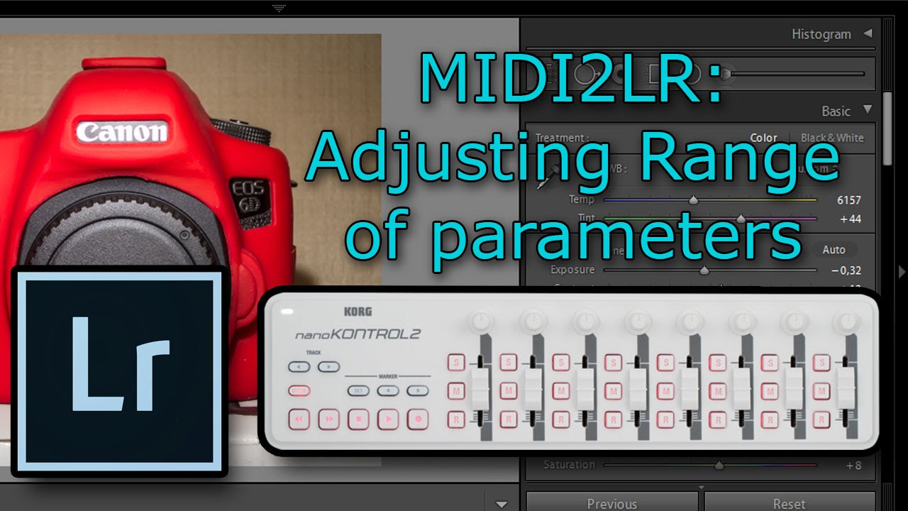 midi2lr how to change range of parameters controlling lightroom with midi controller youtube. Black Bedroom Furniture Sets. Home Design Ideas