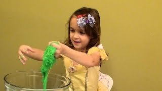 How to Make Slime: Blue Glitter Slime, Pink Slime, Purple Slime and Green Slime - Gift Ideas