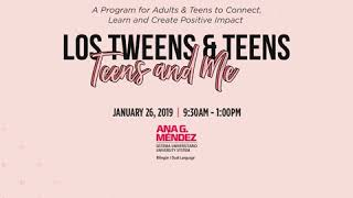 Teens and Me - A Unique Experience for Parents & Teens in Miami Jan 26th