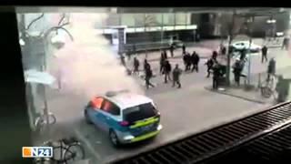 Blockupy-Proteste - Angriff auf das Polizeirevier in Frankfurt - 18.03.15 thumbnail