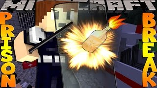 Minecraft PRISON BREAK - SHARKY IS TRAPPED AT THE PRISON RIOT!!