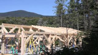Timber Framing The Class Of '65 Bunkhouse At Dartmouth's Moosilauke Ravine Lodge - Timelapse