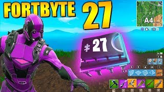 Fortnite Fortbyte 27 🗺️ Card Position A4 | All Fortbyte Places Season 9 Utopia Skin English