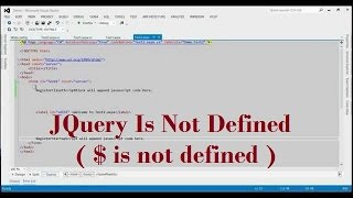 JQuery Is Not Defined ( $ is not defined ) (Reference Error: $ is not defined) Mp3