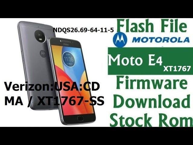 moto e4 firmware download